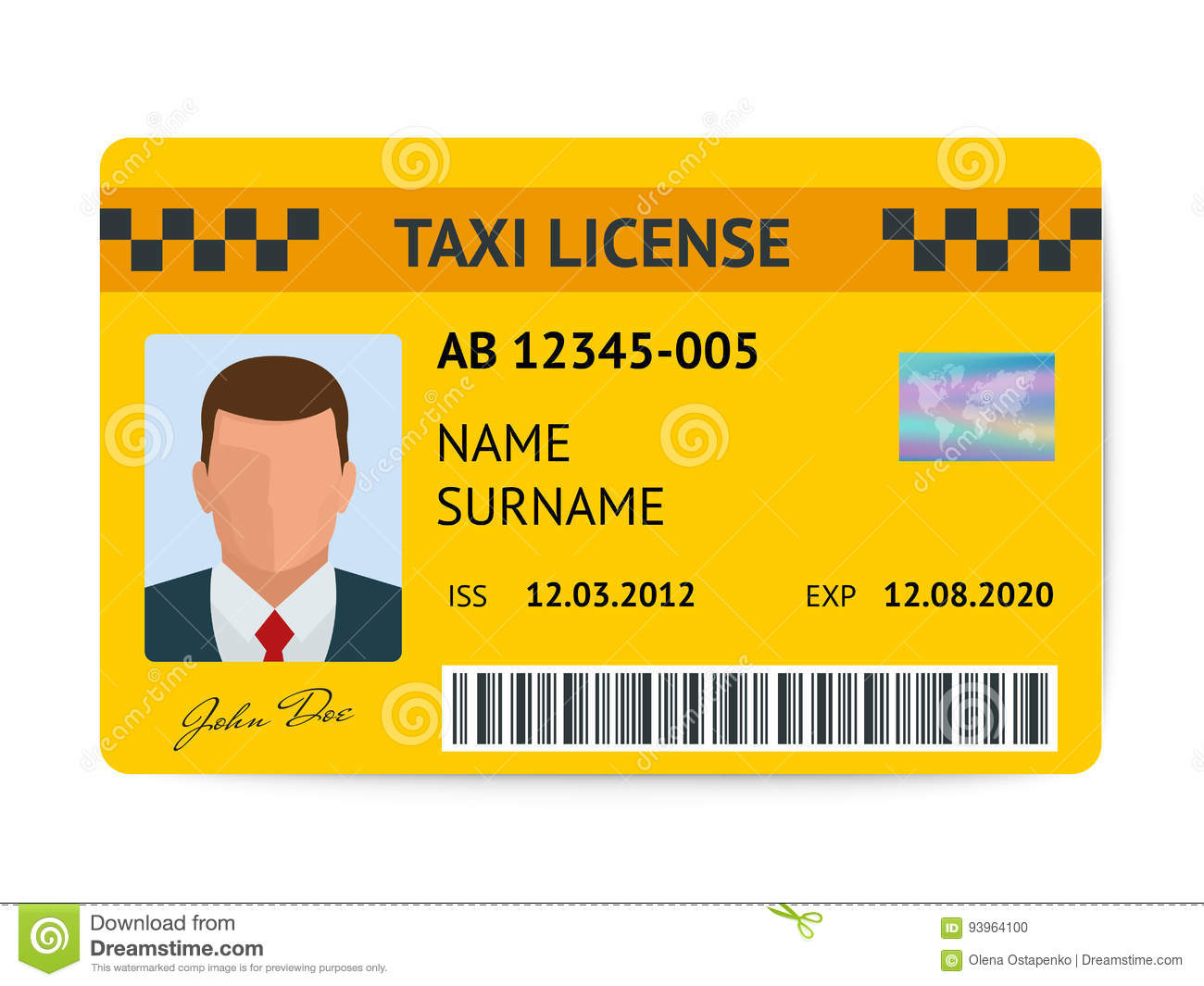 Lottery application for a taxi licence