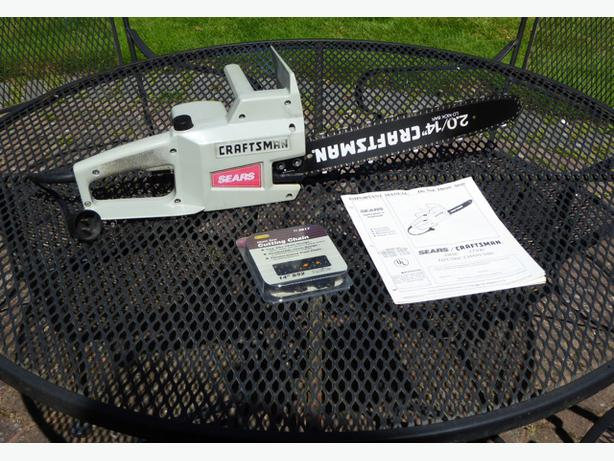 craftsman 14 electric chainsaw manual