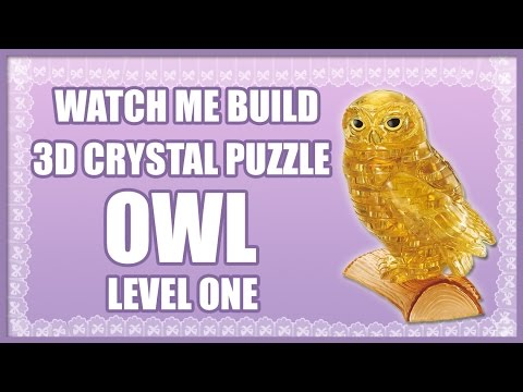 3d crystal puzzle owl instructions