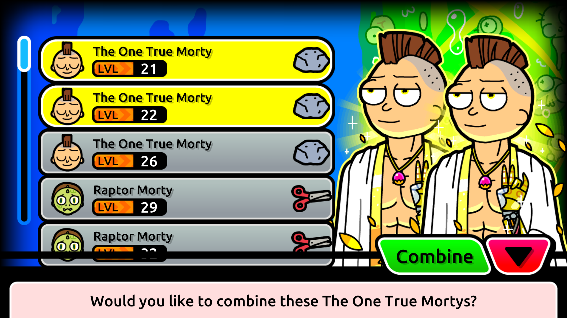 Pocket mortys how to get the one true morty