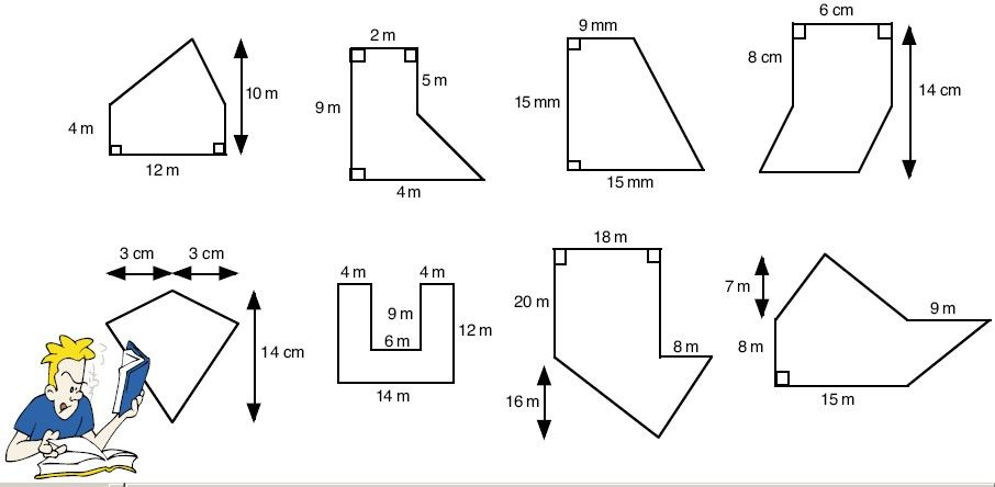 Area of compound figures worksheet pdf