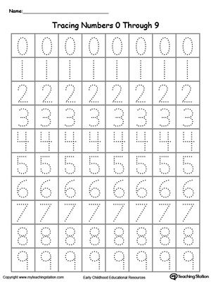 Learn how to write numbers and letters