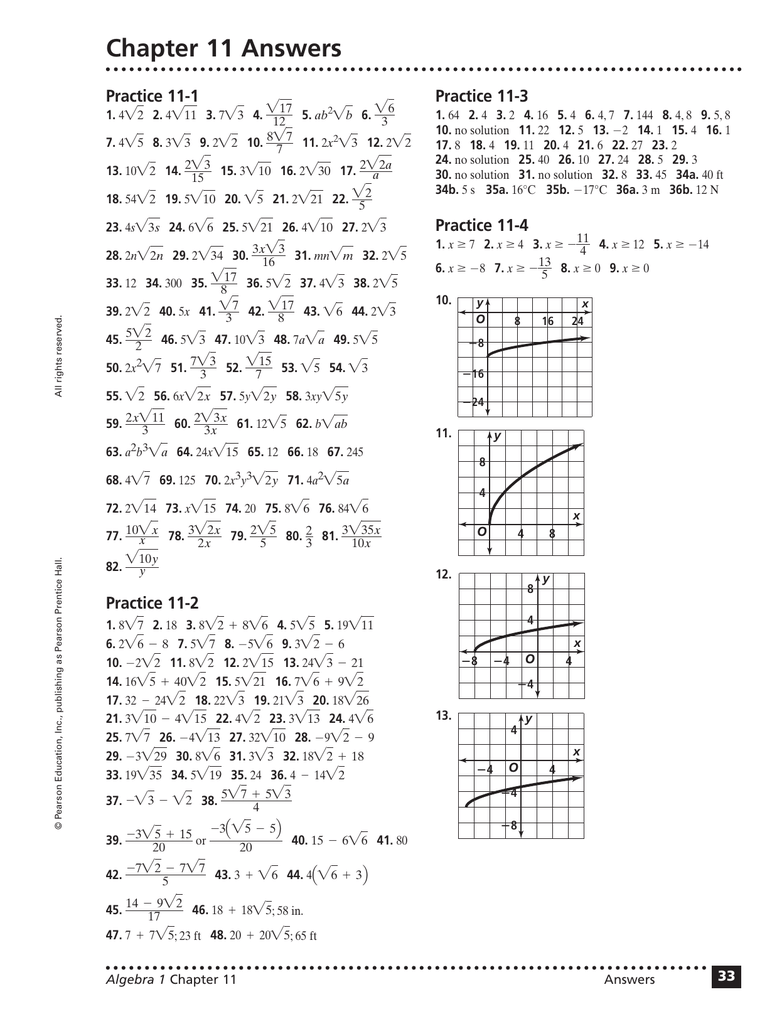 Grade 11 functions and applications textbook answers