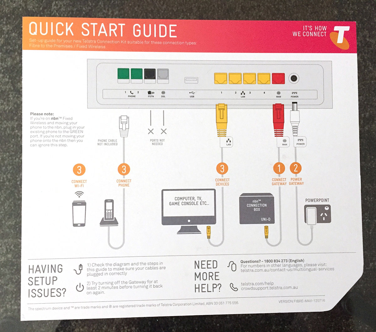 instructions for telstra gateway max