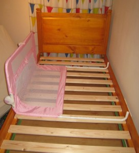 tomy cot bed guard rail instructions