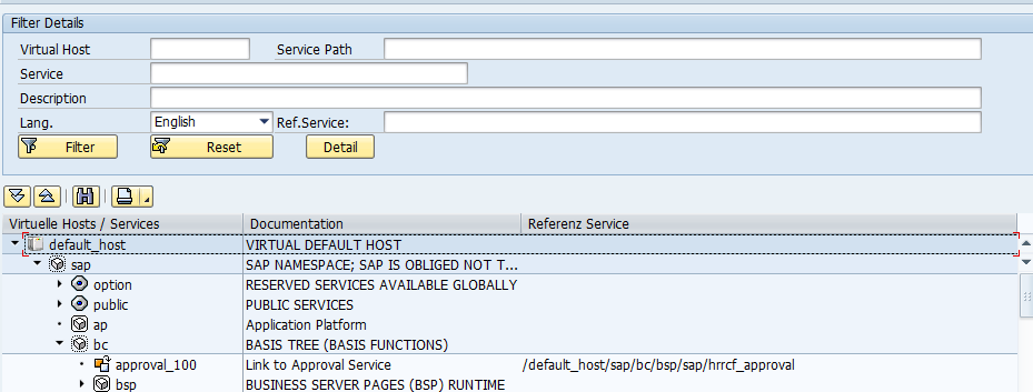 Sap how to get a services url