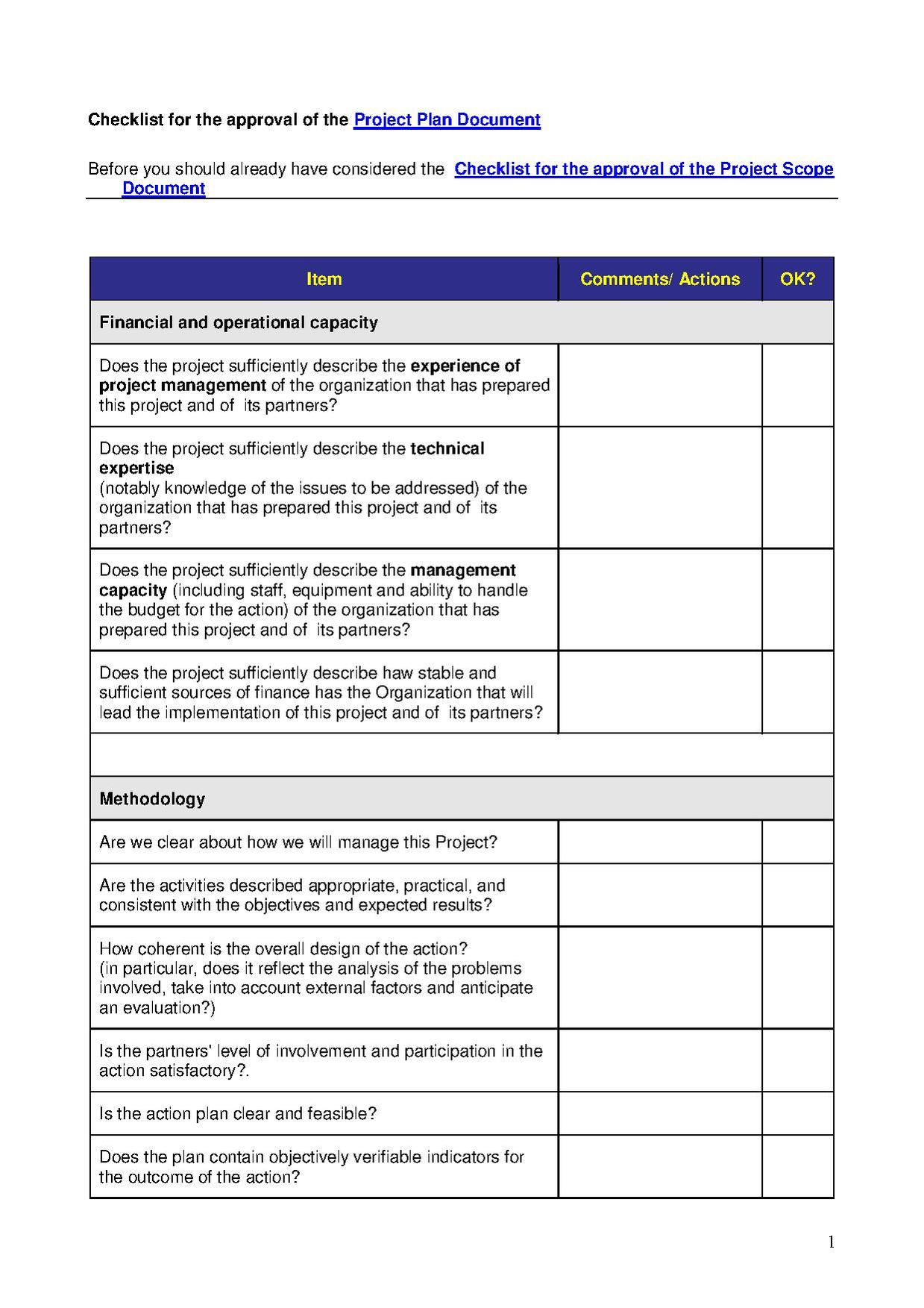Software project plan example pdf